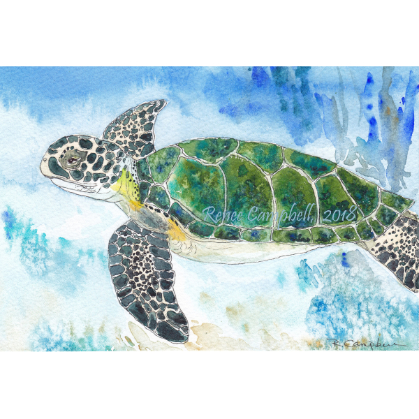 Custom Commission - Small Pet or Wildlife Portrait - Original Watercolor, Small