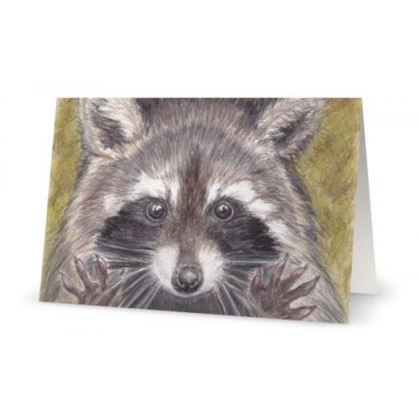 "Card - Jazz Hands Raccoon Art Print, 5"" x 7"""