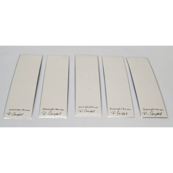 Back of Watercolor Bookmarks - Blue Mountains