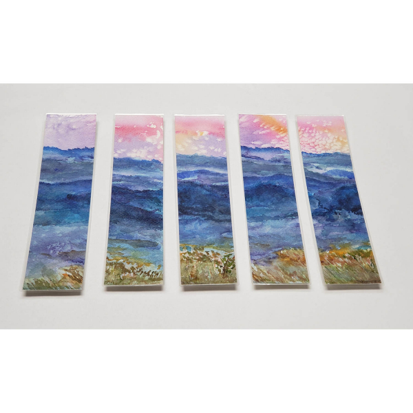 Watercolor Bookmarks - Blue Mountains