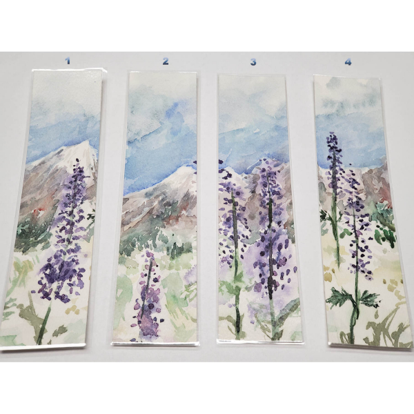 Choose by the number - Watercolor Bookmarks - Mountain Lupines
