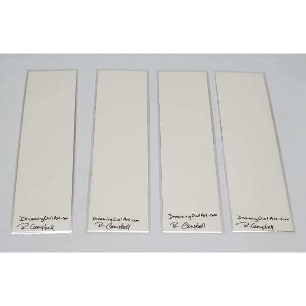 Back of Watercolor Bookmarks - Floral