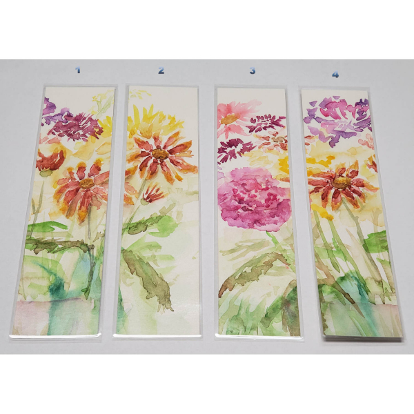 Choose by the Number - Watercolor Bookmarks - Floral