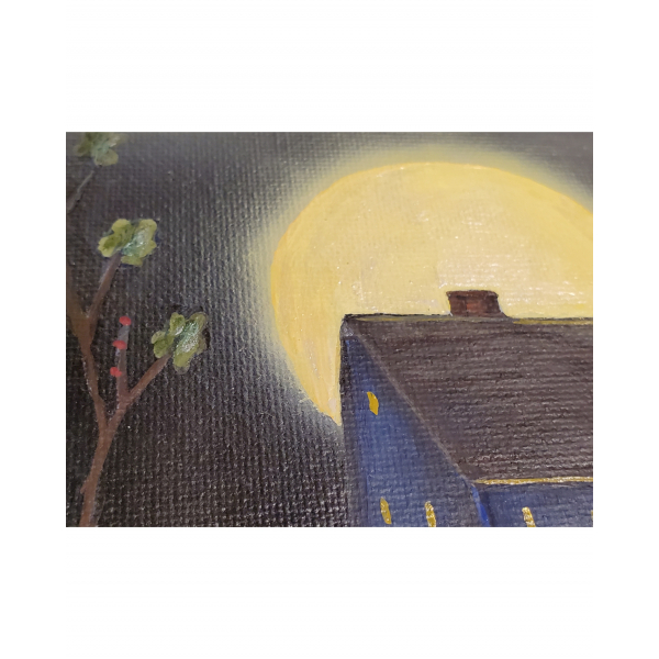 Close up of Misty Moon Saltbox