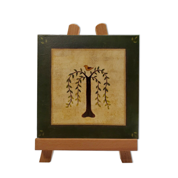 Willow Tree Painting on Easel