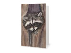"Card - Cozy Raccoon Art Print, 7"" x 5"""
