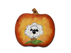 Sheep In a Pumpkin Ornament