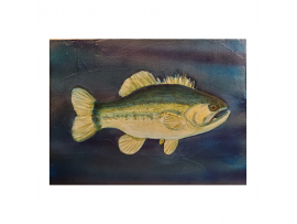 Black Bass Acrylic Painting