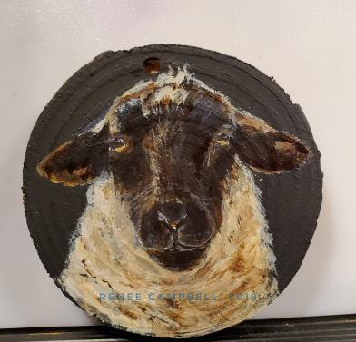Simply Ewe, Painted Ornament