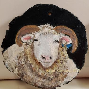 Horned Dorset Ewe Ornament #1