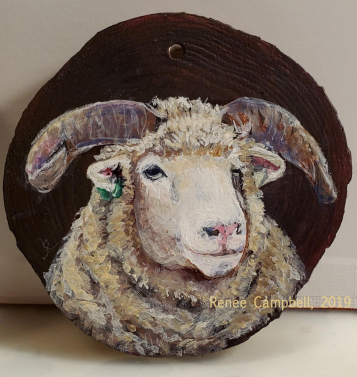 Horned Dorset Ewe Ornament #2