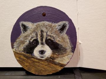 Shy Raccoon Ornament