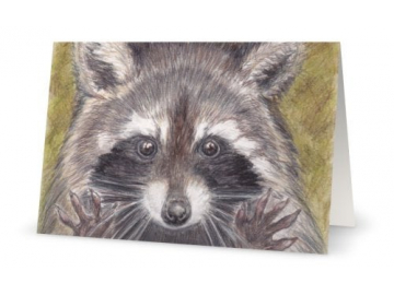 "Card - Jazz Hands Raccoon Art Print, 5"" x 7"""