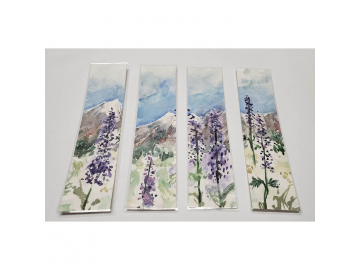 Watercolor Bookmarks - Mountain Lupines