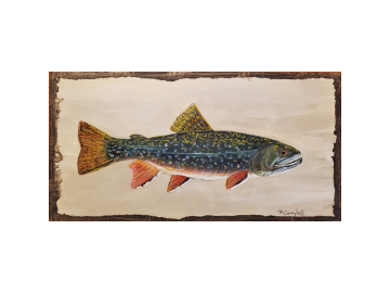 Rainbow Trout Painting on Wood Plaque