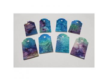 Gift Tags Blue Fern Sunprints, 8pc Set